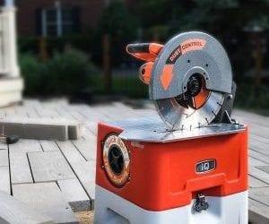 Støvfri kapping av betong og teglstein